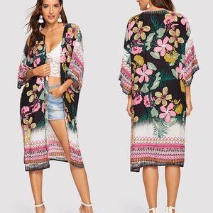 Floral Print Kimono/Cover-Up